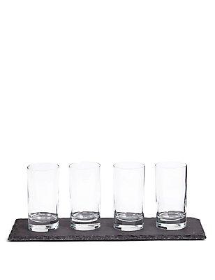 Slate Platter & Serving Glasses, , catlanding