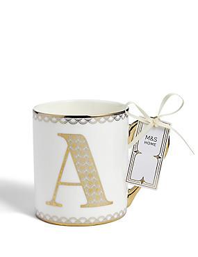 Gold A Mug, , catlanding