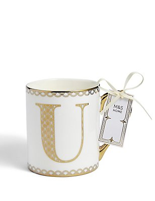 Gold Mug U, , catlanding