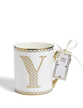 Gold Mug Y, , catlanding
