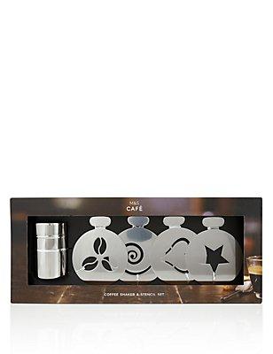 Stainless Steel Shaker & Stencil Gift Set, , catlanding