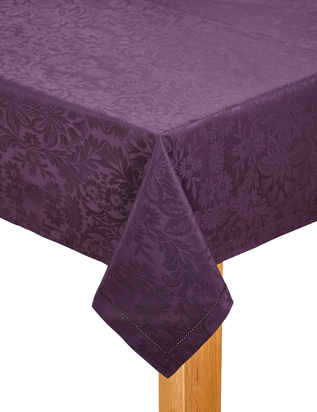 Plum Damask Tablecloth
