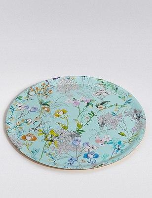 Floral Bloom Tray, , catlanding