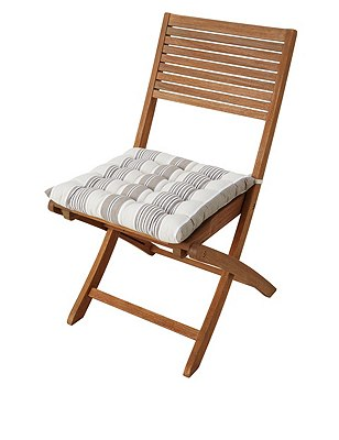 Modern Striped & Quilted Seatpad, NATURAL MIX, catlanding