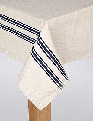 Artisan Striped Tablecloth, , catlanding