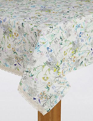 Spring Blooms Tablecloth, , catlanding