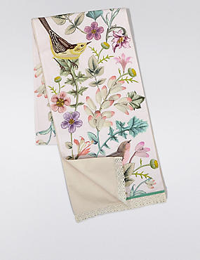 Spring Bird Embroidered Runner Tablecloth, , catlanding