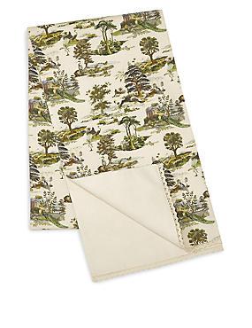 Forest Toile Print Runner, , catlanding