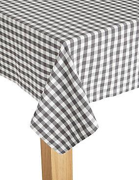 Gingham Woven Tablecloth, , catlanding