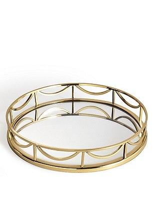Decorative Round Mirror Tray, , catlanding