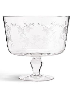 Botanical Etched Trifle Bowl, , catlanding