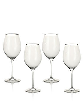 4 Pack Maxim Platinum Red Wine Glasses