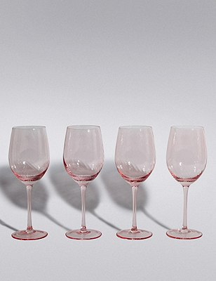 4 Spring Blooms Wine Glasses, , catlanding