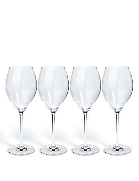 Sommelier 4 Pack White Wine Glasses, , catlanding