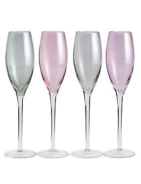 Ophelia 4 Pack Champagne Flute, , catlanding