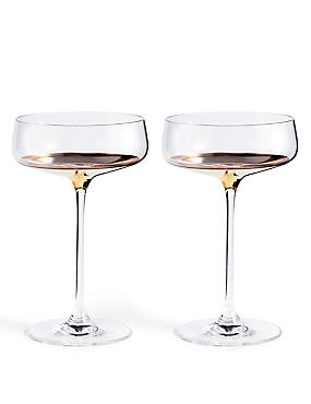 Bellagio 2 Pack Champagne Saucers, , catlanding