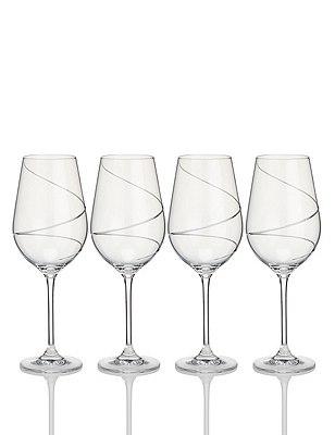 4 Pack Swirl Red Wine Glasses, , catlanding