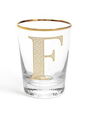 Letter F Glass, , catlanding