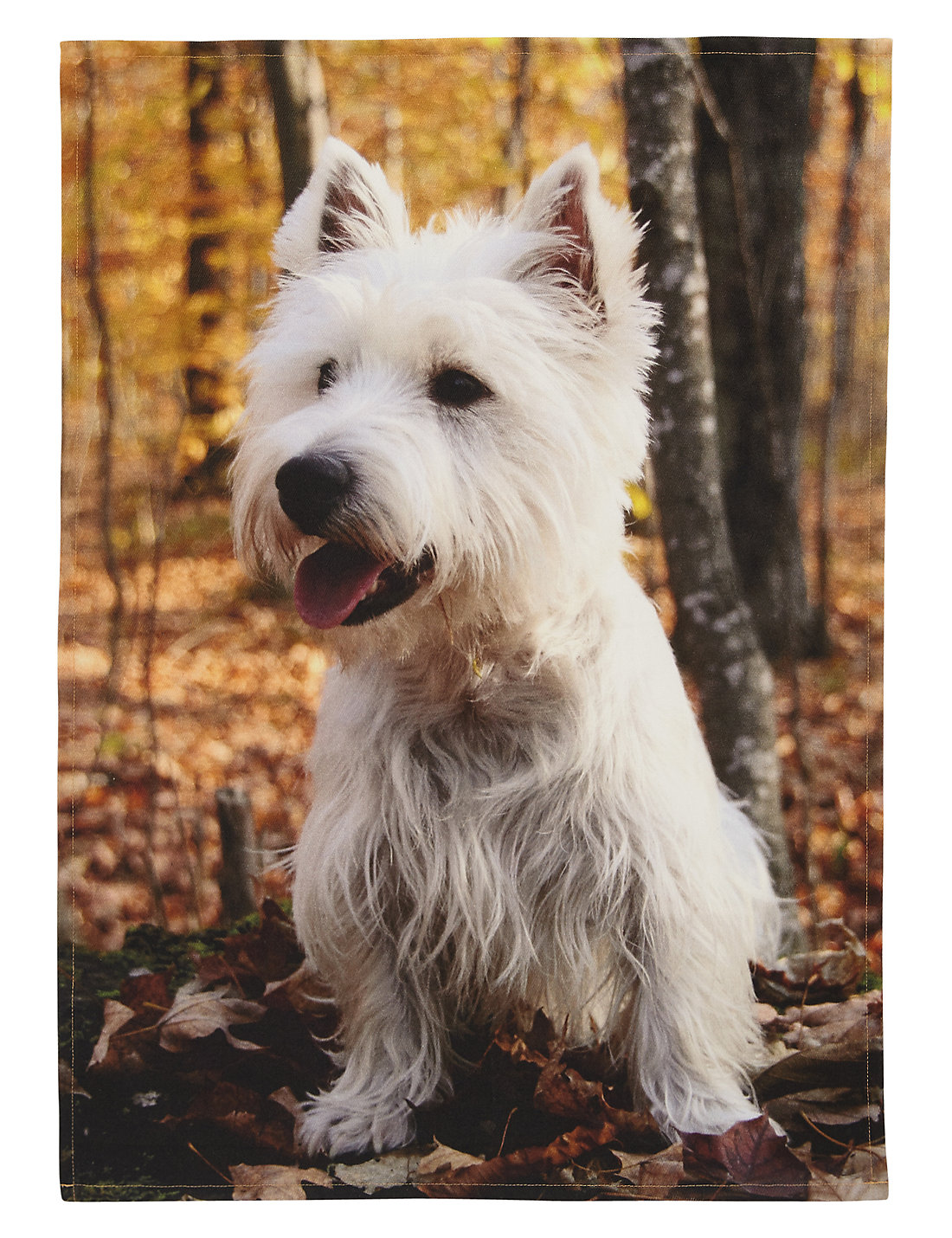 Dress Tea Towel Westie Dog Print Tea Towel