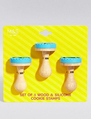 3 Cookie Stamps, , catlanding
