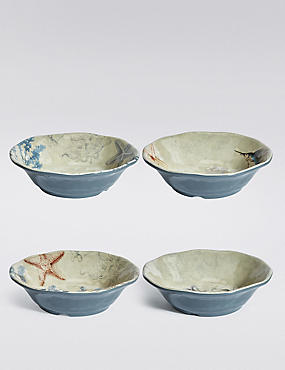 4 Nautical Melamine Cereal Bowl