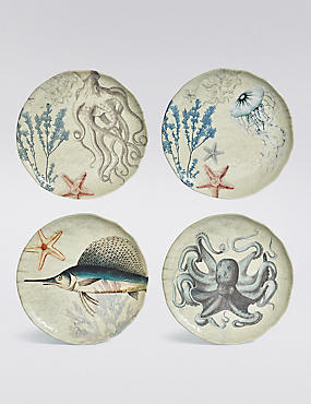 4 Nautical Melamine Side Plate