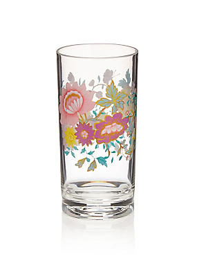 Spring Bloom Floral Acrylic Hi Ball Glass