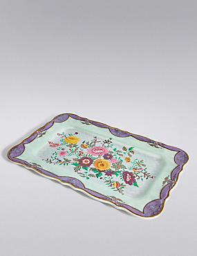 Spring Bloom Floral Tray