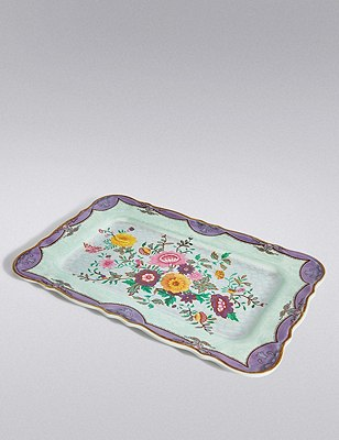 Spring Blooms Picnic Floral Tray, , catlanding