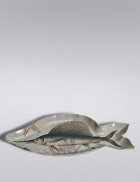 Nautical Fish Melamine Platter, , catlanding