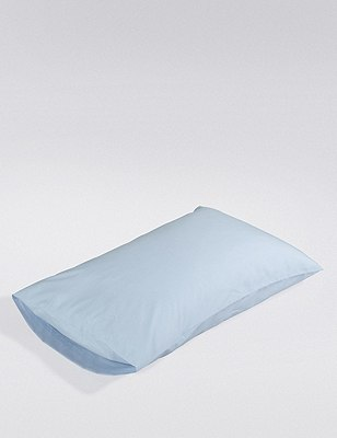 Comfortably Cool Housewife 200 Thread Count Pillowcase, POWDER BLUE, catlanding