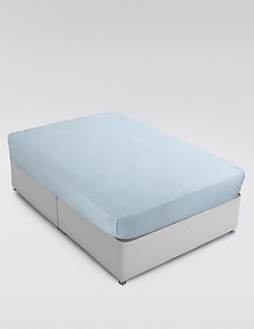 200 Thread Count Comfortably Cool Flat Sheet, POWDER BLUE, catlanding