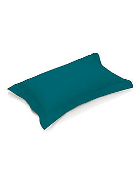 Pure Egyptian Cotton 230 Thread Count Oxford Pillowcase with StayNEW™, EMERALD, catlanding