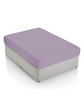 Non-Iron Pure Egyptian Cotton Deeper Fitted Sheet, LILAC, catlanding
