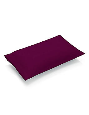 Pure Egyptian Cotton 230 Thread Count Housewife Pillowcase with StayNEW™, DAMSON, catlanding