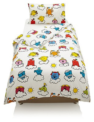 Mr. Men™ Cloud Print Bedding Set, WHITE MIX, catlanding