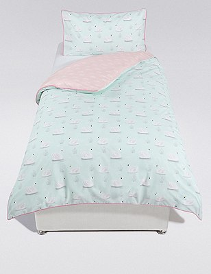 Swimming Swans Bedding Set, , catlanding