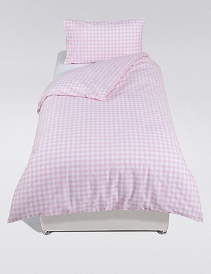 Gingham Check Bedding Set, , catlanding
