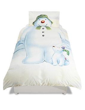 Pure Cotton Snowman Print Bedding Set , , catlanding