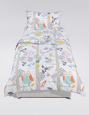 Owls & Birds Bedding Set, , catlanding