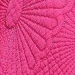 Lola Leaf Print Throw, FUCHSIA, swatch