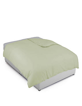 Cotton Rich Percale Duvet Cover, MOSS GREEN, catlanding