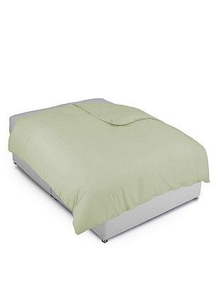 Cotton Rich Percale Duvet Cover, MOSS GREEN, catlanding