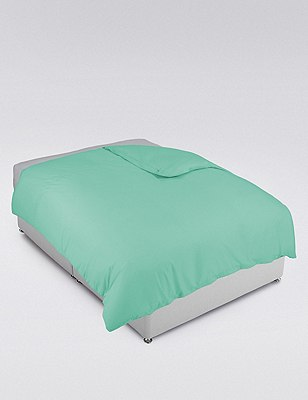 Cotton Rich Percale Duvet Cover, MINT, catlanding