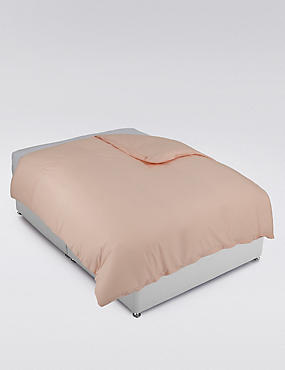 Cotton Rich Percale Duvet Cover, APRICOT, catlanding