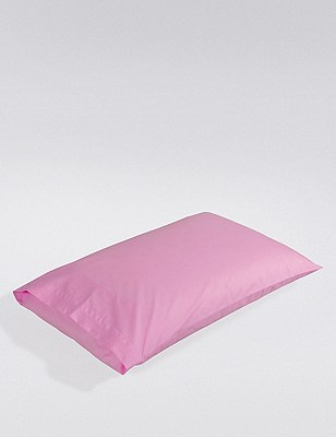 Percale Pillowcase , ROSE, catlanding