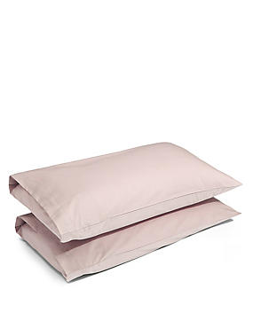 2 Pack Cotton Rich Percale Pillowcase, CAPPUCCINO, catlanding
