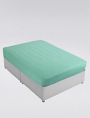 Percale Fitted Sheet, MINT, catlanding