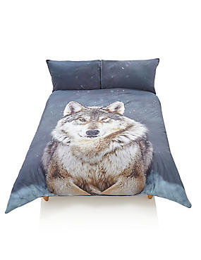 Snowy Wolf Bedding Set