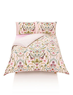 Phoebe Bird Print Bedding Set